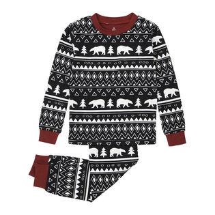 Girls' [4-7] Polar Bear Print Two-Piece Pajama Set