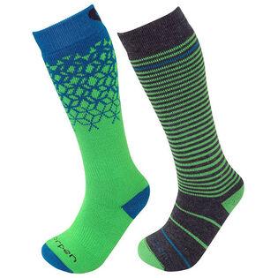 Junior Merino Blend Ski Sock [Two-Pack]