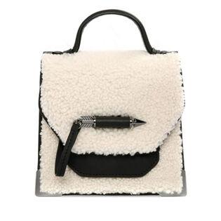 Rubie-W Leather Sheepskin Crossbody Bag