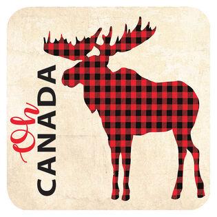 Plaid Moose Coaster