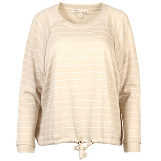 Women's Striped Dolman Sweatshirt