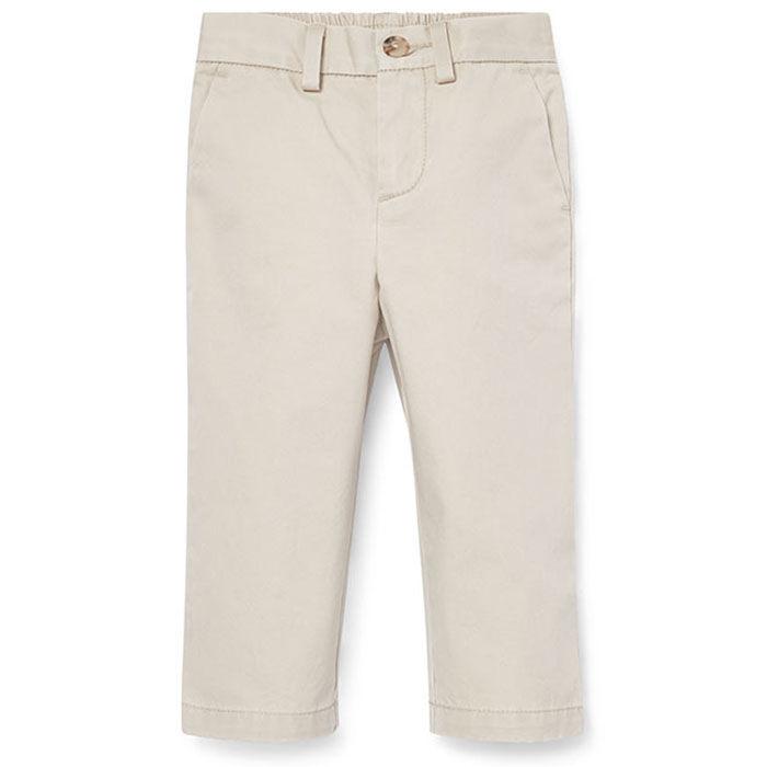 Pantalon chino à devant plat en coton pour bébés garçons [6-24M]