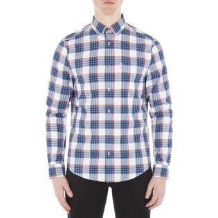 Men's Crepe Gingham Check Shirt