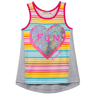 Junior Girls' [7-14] Fun Heart Tank Top
