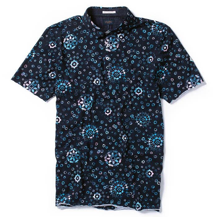 Men's Micro Print Jersey Polo
