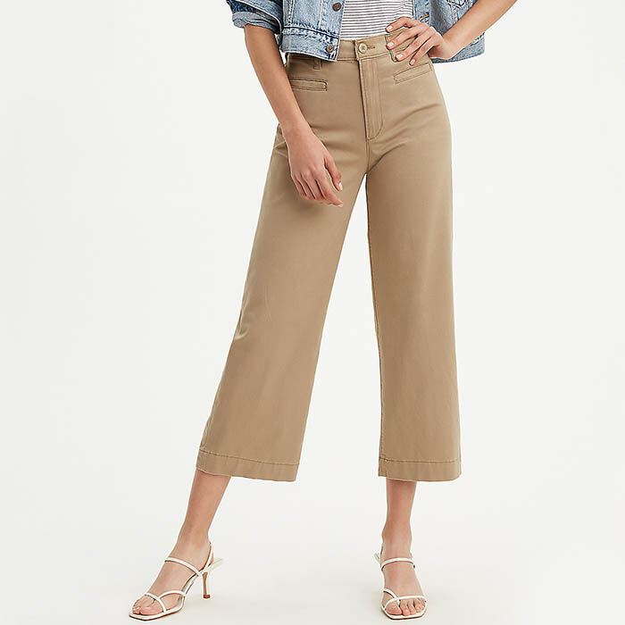 Women's Ribcage Wide Leg Cropped Pant