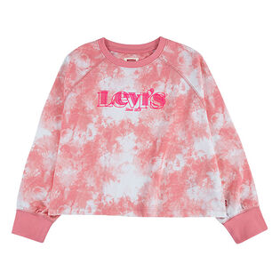 Junior Girls' [7-16] Tie-Dye Crew Sweatshirt
