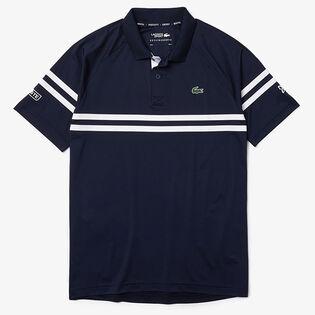 Men's Novak Djokovic Striped Polo