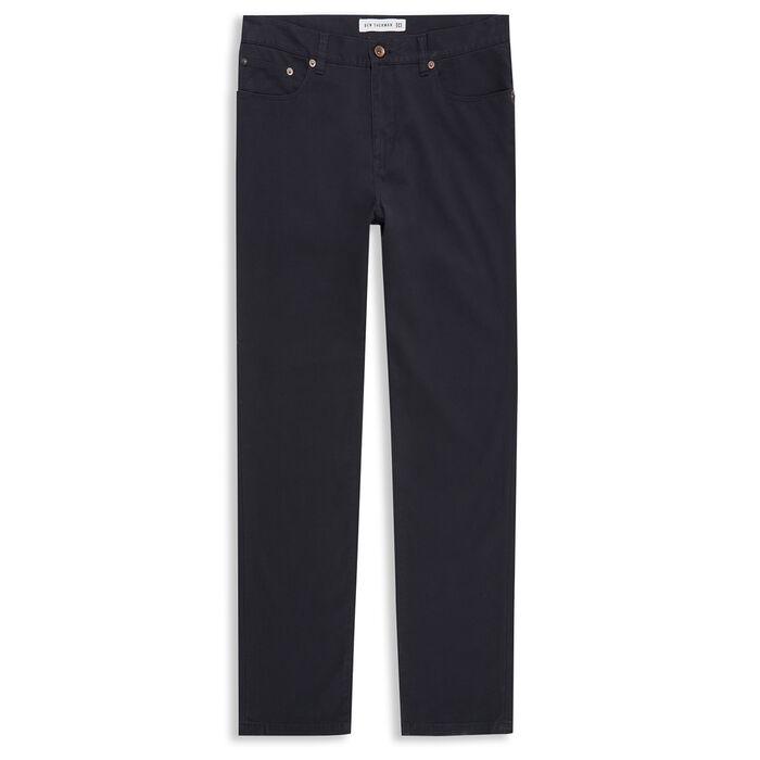 Pantalon en sergé de couleur unie pour hommes