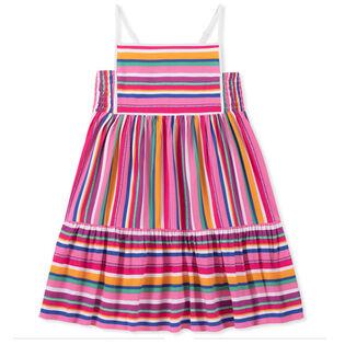 Junior Girls' [8-16] Striped Logo Sundress