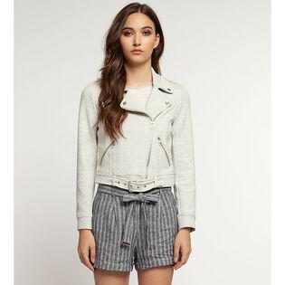 Women's Knit Moto Jacket