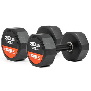 Rubber Dumbbell (30 Lb - Pair)