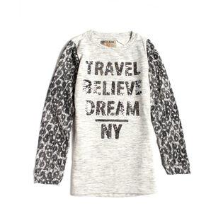Junior Girls' Cheetah Sweater