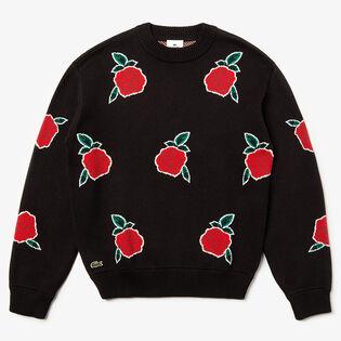 Men's Jacquard Rose Sweater