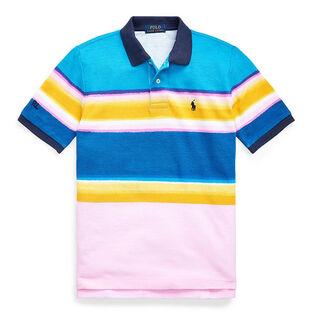 Polo rayé en maille de coton pour garçons juniors [8-20]