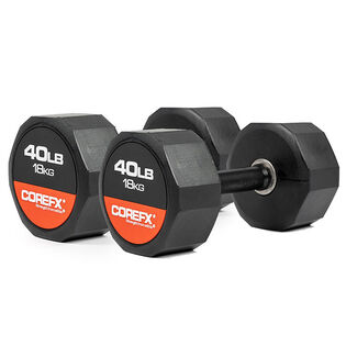 Rubber Dumbbell (40 Lb - Pair)