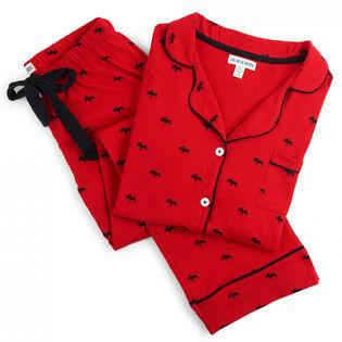 Women's Moose Two-Piece Pajama Set