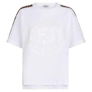 T-shirt FF Ribbon avec logo lustré pour femmes
