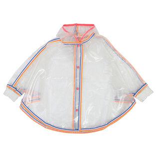 Girls' [4-6] Glittery Cape Raincoat