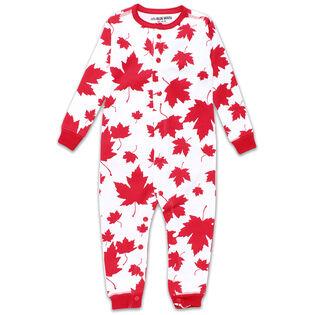 Babies [3-24] Maple Leaves Union Suit