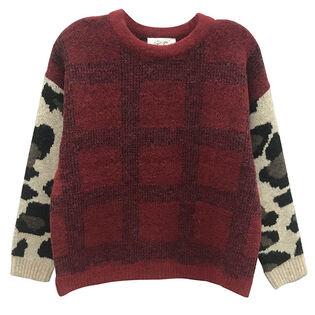 Women's Checked Cheetah Sweater