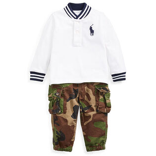 Baby Boys' [3-24M] Mesh Top + Cargo Pant Two-Piece Set
