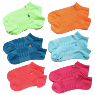 Women's 6 Pack Of Solid No-Show Sock