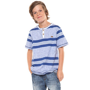 Junior Boys' [8-16] Stripe Henley T-Shirt