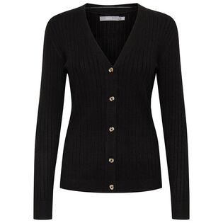 Cardigan en tricot côtelé pour femmes