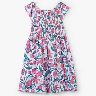Girls' [2-6] Summer Flowers Smocked Dress