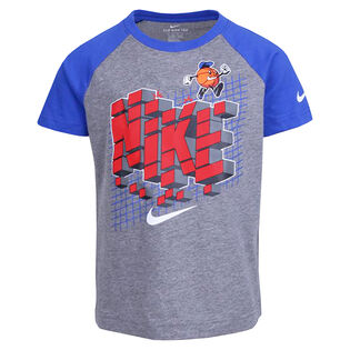 Boys' [4-7] Raglan 8-Bit Basketball T-Shirt