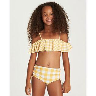 Junior Girls' [7-14] So Golden Ruffle Two-Piece Bikini