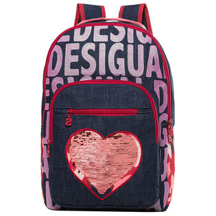 Junior Girls' Glitter Jeans Backpack
