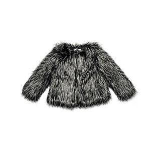 Manteau en fausse fourrure pour filles [2-10]
