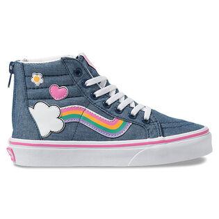 Kids' [11-4] Rainbow Sidestripe Sk8-Hi Zip Shoe