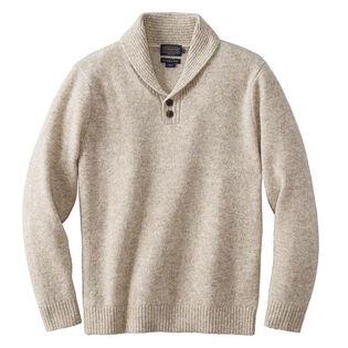 Men's Shetland Shawl Pullover Sweater