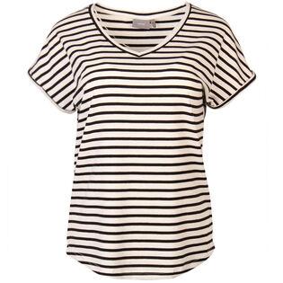 Women's Striped V-Neck T-Shirt