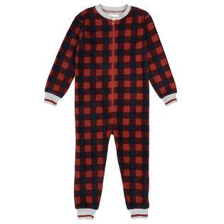 Juniors' [8-14] Buffalo Plaid One-Piece Pajama