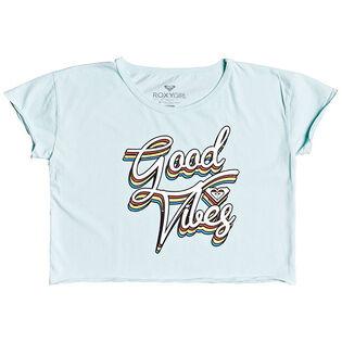 Junior Girls' [8-16] Good Vibes Cropped T-Shirt
