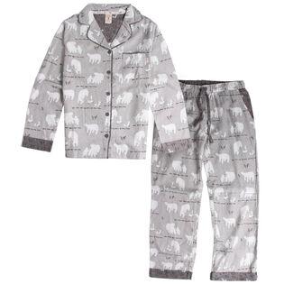 Women's Polar Bear Flannel Pajama Set