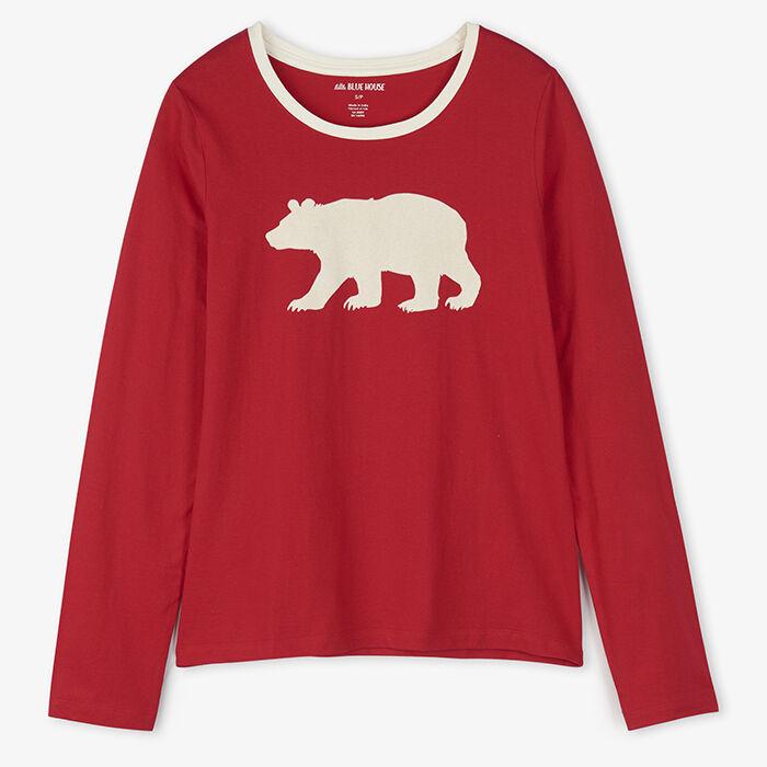 Women's Fair Isle Bear Pajama Top