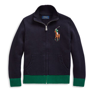 Boys' [5-7] Cotton Full-Zip Sweater
