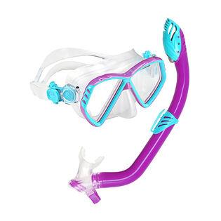 Juniors' Maverick LX Mask And Piper Snorkel Combo