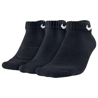 Chaussettes basses en coton Cushion pour femmes [paquet de 3] - Noir