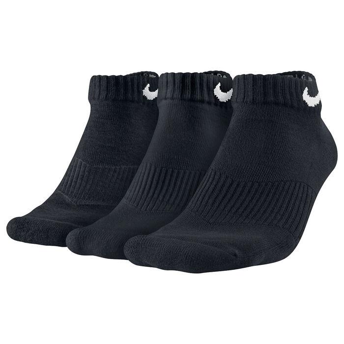 Women's Cotton Cushion Low-Cut Socks [3 Pack] (Black)