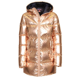 Manteau en duvet de ton métallique pour filles juniors [8-16]