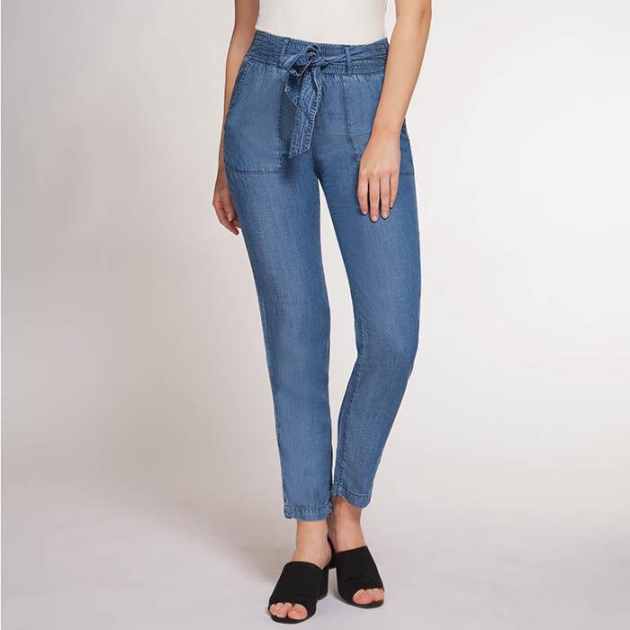 Pantalon en chambray pour femmes