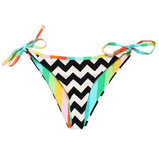 Women's Zig Zag Reversible Bikini Bottom