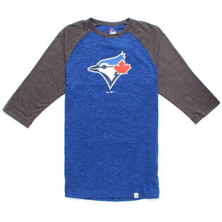 Men's Blue Jays Logo 3/4 Sleeve Top