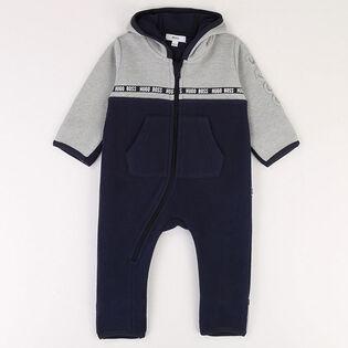 Baby Boys' [3-18M] Hooded Fleece Jumpsuit